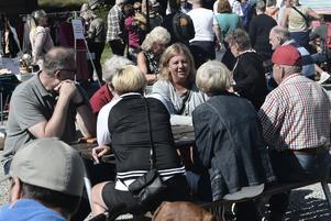 Den fjärde marknaden i Funäsdalen var full med besökare.