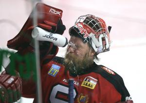 Foto: Mark Earthy/TT. Magnus Lindquist under matchen mot Frölunda när Scaniarinken återinvigdes.