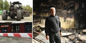 Lördagens brand hos Boströms traktor och maskin i Örnsköldsvik orsakade omfattande skador. Trots det fortsätter verksamheten att vara igång.