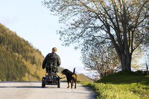 Anders Karlsson och Håkan Munksten uppmaran funktionshindrade att organisera sig för att kunna påverka utvecklingen. Foto: Gorm Kallestad/TT