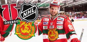 Blir det spel i Örebro eller NHL nästa säsong för Mathias Bromé? Foto: Daniel Eriksson/Bildbyrån