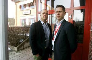 Platschefen Johan Hallqvist och Magnus Larsson som är ansvarig för servicedeskverksamheten i Sverige jobbar båda för nya arbeten.