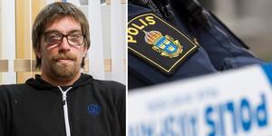 Andreas Carlsson bor intill brottsplatsen vid Kolgillaregatan/Prästgatan. Vägen var under natten avspärrad av polisen. Bilden är ett montage.