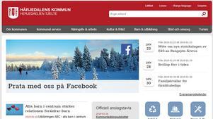 Bild: Skärmdump på Härjedalens kommuns hemsida.