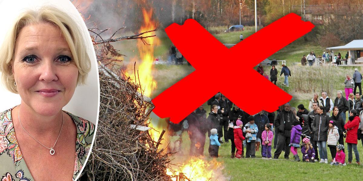 """Lagen om max åtta lägger is även på årets valborgsbrasor: """"Restriktionerna gäller fortfarande"""""""
