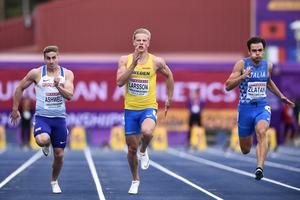 Henrik Larsson var först över mållinjen i sin semifinal. Bild: Erik Simander/TT
