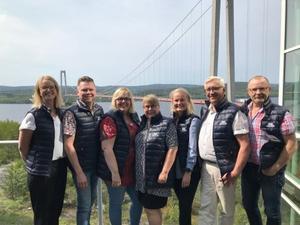 Den nya styrelsen samlad för första konstituerande möte. Från vänster Ida Stafrin, Per Nylén, Malin Svanholm, Lillemor Edholm, Ida Skogström, Ingemar Wiklander och Roger Johansson. På bilden saknas Peter Byström.
