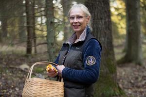 Susanne Vonmentzer-Andersson, 57 med lite klassiska kantareller.
