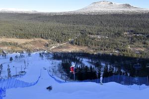 Brittisk freestyleträning på Idre Fjäll.