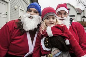 Olivia Hillborg hade i år fått sällskap av Bella och fyraåriga Lea Englund.