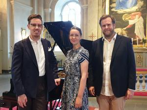 Per Olsson, Astrid Robillard och Andreas Franzén. Foto: Sven Edsfors