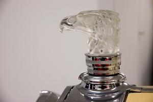 Örnen som pryder bilens kylare var ett tillval när bilen var ny. En liten glödlampa kan lysa upp örnhuvudet.
