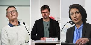 På pressträffen medverkar Anders Tegnell, statsepidemiolog vid Folkhälsomyndigheten, Svante Werger, rådgivare vid Myndigheten för samhällsskydd och beredskap  samt Taha Alexandersson, ställföreträdande krisberedskapschef vid Socialstyrelsen