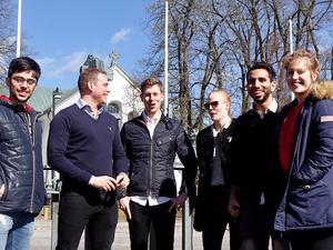 I en studentgrupp som skissade på framtidens kyrktorg ingick Mohammed Abu Abed, Joakim Dalstrand, Bas van der Meer, Ida Fransson, Mohammed Kalouf och Maria Karlsson.
