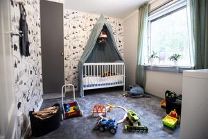 Även Lucas fick ett eget rum.