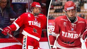 Filip Hållander och Jacob Olofsson. Blir de stjärnor i U18-landslaget eller kliver de till och med in hos Juniorkronorna? Foto: Pär Olert (Bildbyrån).