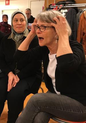 Lena Klarström ledde övningarna.