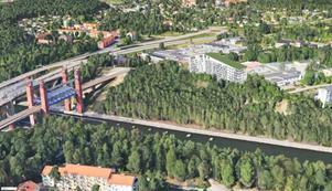 Fastighetsägaren vill bygga ett 7-8-våningshus i Viksängen med cirka 100 lägenheter, skissen visar hur det kan komma att se ut när allt är klart om det går som man vill.Skiss: Serafim fastigheter