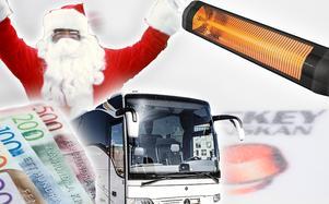 Vilka lag får en ny sponsor, bussresor och infravärme till hemmaarenan av tomten i jul? Foton: TT, Bildbyrån