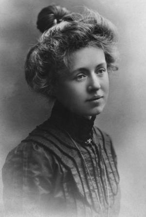 Frida Stéenhoff kring 1885, ungefär vid den tid hon kom till Sundsvall.