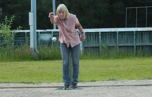 Ingabritt Eriksson, ankare i vinnande laget, Rolling Stones 2, från Sveg. Foto: Lennart Svensson.