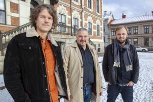 Artisten Pär Engman, projektledare Anders Uddén och Erik Ohlsson från artistbyrån Jubel tycker det är kul att äntligen få avslöja låten de arbetat med sedan i våras.