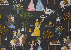 Fru Lusta, ett mönster som Gocken Jobs skapade 1945 till den stora utställningen på varuhuset NK i Stockholm.