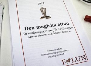 Martin Jansson och Rasmus Ostermans gymnasiearbete.