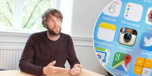 Region Gävleborg lanserar snart egen app. Foto: Kjell Vowles; Vilhelm Stokstad/TT. Bilden är ett montage.