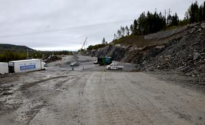 I området ska den stora trafikplatsen byggas.