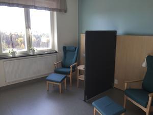 Ett av rummen i det nyinredda patienthotellet.