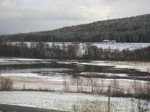 Snö i Kornsjöområdet.