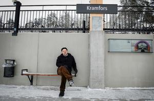 Sista tåget har definitivt inte gått. Jan Sahlén tror på en framtid för Kramfors och vill gärna sitta kvar som kommunalråd.
