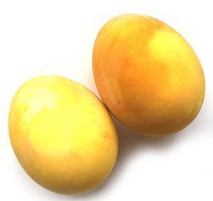 Gurkmeja ger gula ägg.