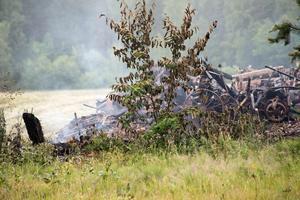 Vid en brand tidigare i somras brann föreningens gamla tröskverk upp.