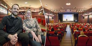 Mattias Ribbing och Petra Krantz Lindgren  var laddade inför föreläsningen.