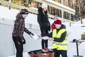 Alva Nilsson, Bergeforsens SK, vann damernas 22 kilometer före Susanne Petersson från Strategen ooch Sophie Dahl från Tynderö.