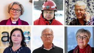 Eva Nordung Byström, Per Silverliden, Stefan Wallsten, Annika Stenberg, Sten-Ove Danielsson och Berit Högman.