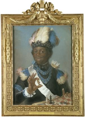 Porträttet av Adolf Ludvig Gustav Albert Couschi, kallad Badin, är tecknat av Gustaf Lundberg 1775 och finns på Nationalmuseum. Källa: Wikimedia