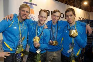 Ett OS-guld har Anders Södergren i sin samling, från stafetten i Vancouver 2010. Foto: Leif R Jansson / SCANPIX