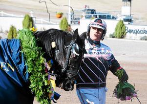 Håkan Skoglund vann med Art Nökkve. Här med hästen Order By Keeper vid ett tidigare tillfälle.