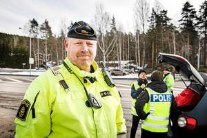 Johan Alm är gruppchef på trafikpolisen i Dalarna. Foto: Lars Dafgård/Arkiv