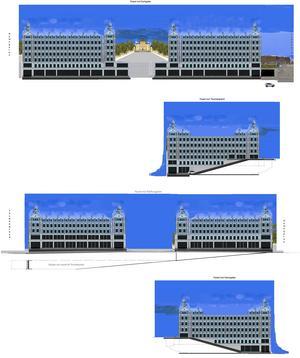 Bilden har tagits fram genom att kopiera delar av en ritning från det norrländska husutvecklingsföretaget Jupiter och Gran AB, som bygger moderna hus med en attraktiv arkitektur