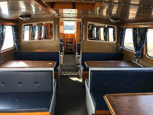 Färjan tar totalt 69 passagerare och sträckan från småbåtshamnen till Alvik beräknas ta 18 minuter. Bild: Pressbild.