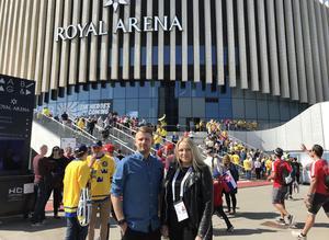 Andreas Hanson och Jennifer Engström bevakar hockey-VM på plats i Danmark.