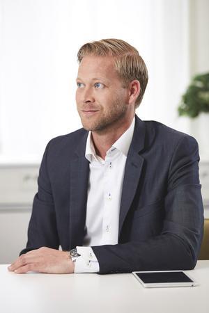 Johan Frodell, vd för Releasy, som har kontor och snart mer än 200 anställda i Borlänge. Foto: Rikard Isacsson