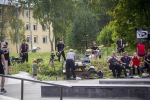 Liveband är ett återkommande inslag under Söderhamns BBQ battle.