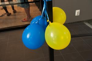 Ballonger hör till när det är invigning.