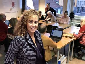 Manal Berglund, verksamhetsutvecklare på ABF, Arbetarnas Bildningsförbund.