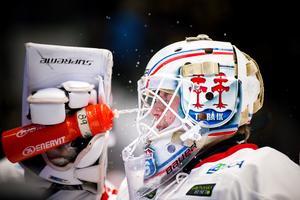 Linus Marcko spelade skadad i sin debut mot Skellefteå.Foto: Ola Westerberg
